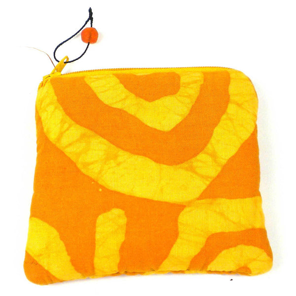 Batiked Coin Purse - Yellow