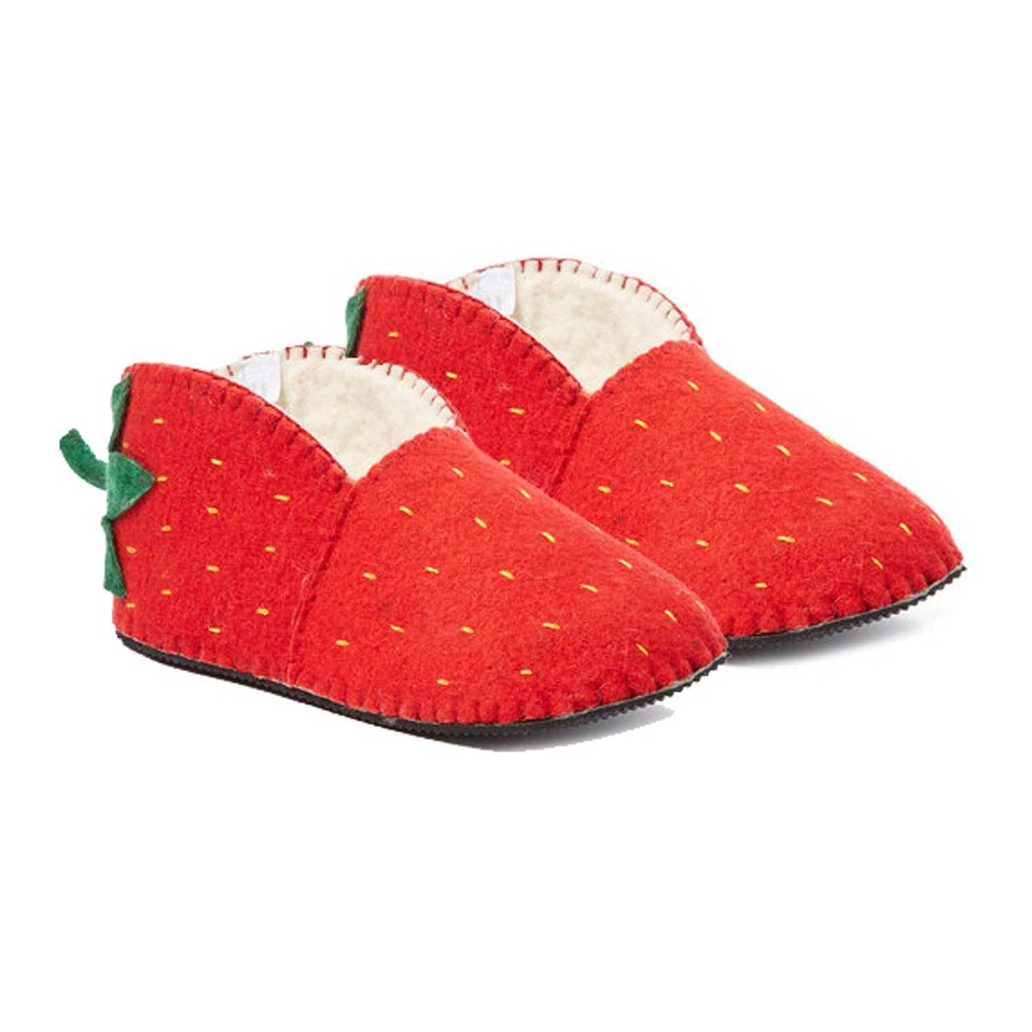 Strawberry Slippers Adult Medium