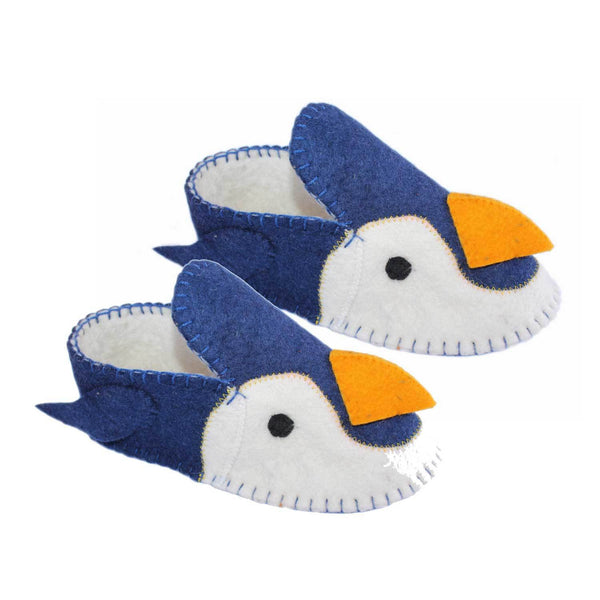 Penguin Slippers Adult Small