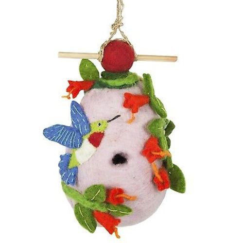 Felt Birdhouse - Hummingbird Handmade and Fair Trade