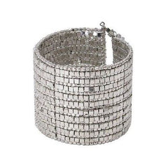 Shining Silver Gilded Cuff Bracelet Handmade and Fair Trade
