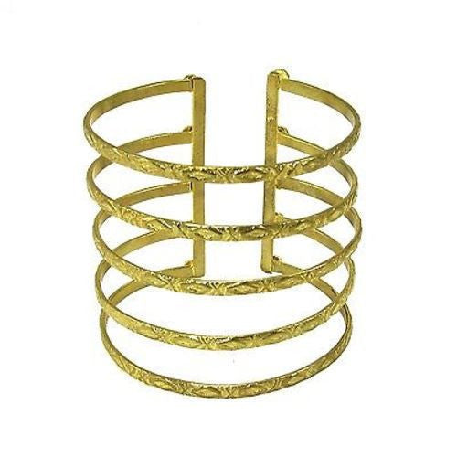 Goldtone Baroque Cuff