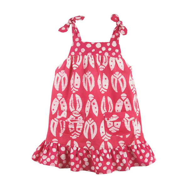 Babies Pocket Dress Bugs Primrose