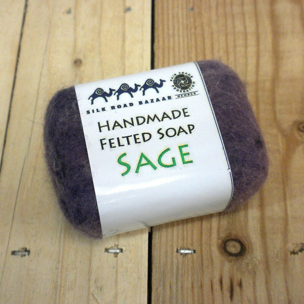 Handmade Felted Soap Sage