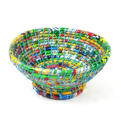 Multi Color Medium Wrapper Bowl - Blue