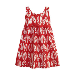Girls Sundress Bugs Red