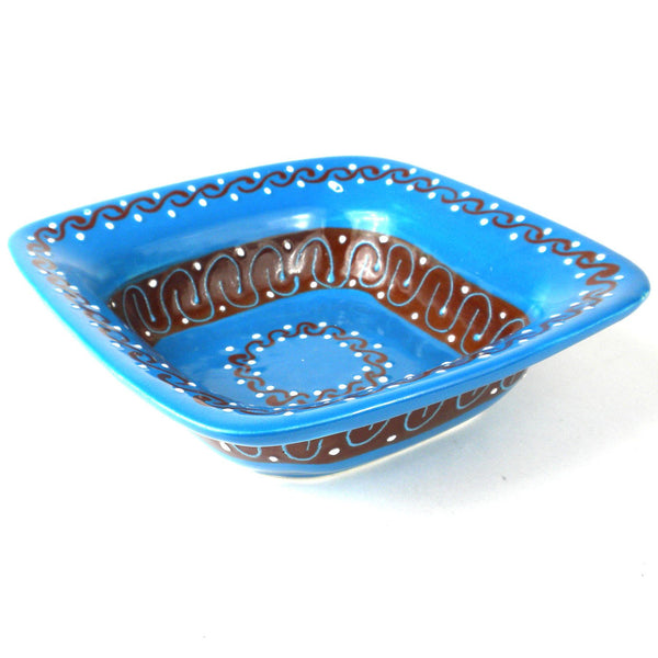 Flared Serving Bowl - Azure Blue