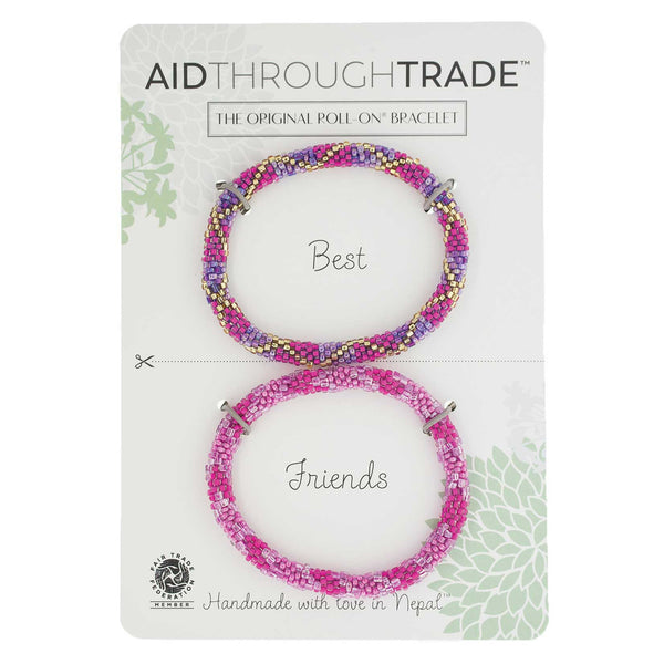 Roll-On Friendship Bracelets - Fuchsia Fusion