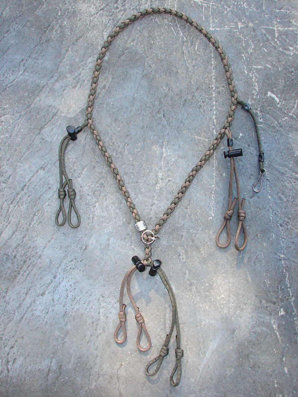 Paracord Lanyard for 4 calls and whistle - round braid