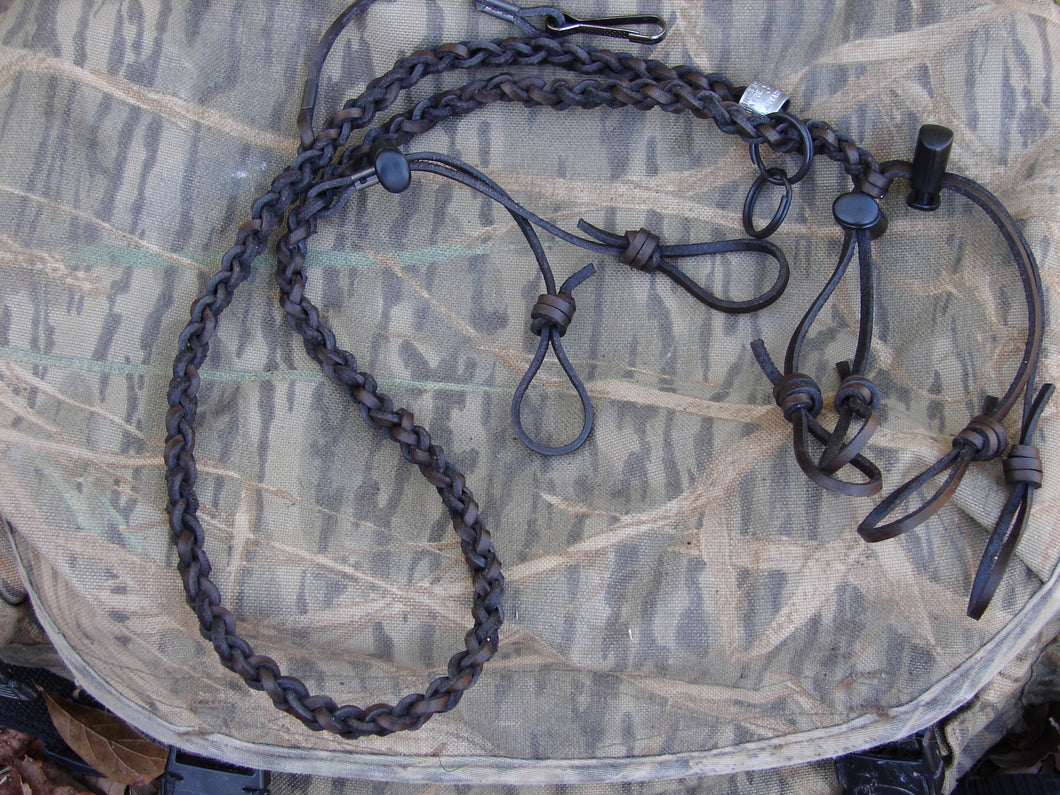 Waxed Leather Lanyard for 3 calls and whistle