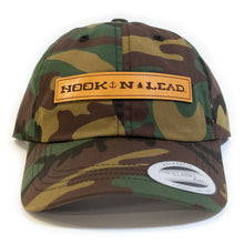 Army Camo Dad Cap with genuine leather branded patch