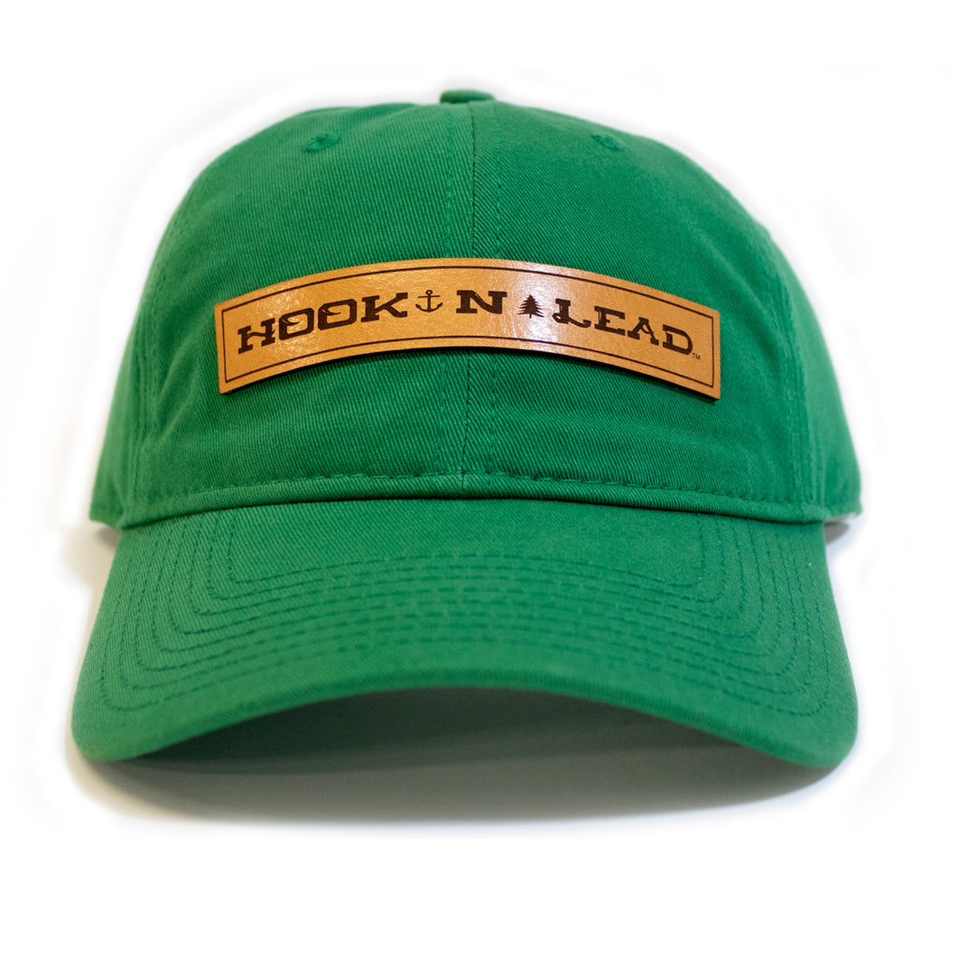 Relaxed Cap Kelly GreenLeather branded patch