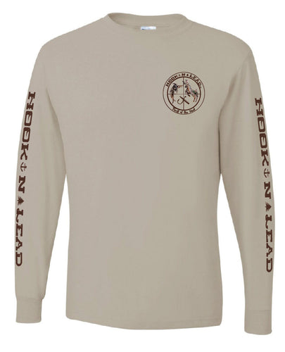 HOOKNLEAD.com offers men and woman a long sleeve t shirt for outdoors man that hunt fish in ocean print