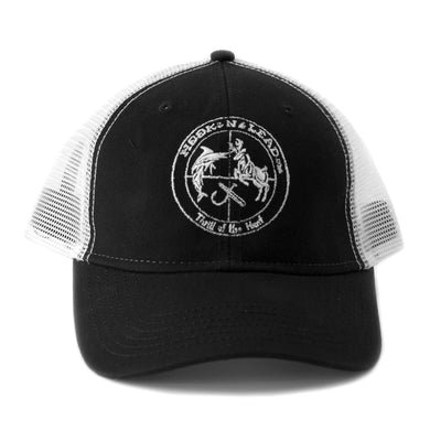Black and White trucker Cap with velcro closure