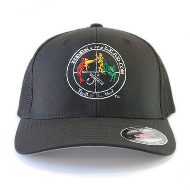 Black mesh & black front Flex Fit Trucker Cap