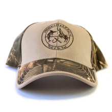 Tan Solid Front Camouflage Cap with tri-glide buckle closure