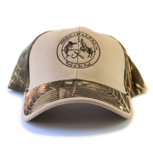 99419f5997f1a Tan Solid Front Camouflage Cap with tri-glide buckle closure