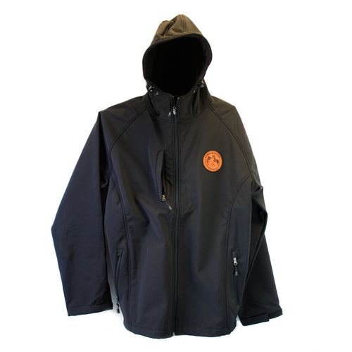 Fleece lined Zip up Jacket with leather patch (2 Colors)