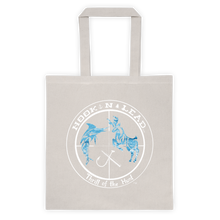 Canvas Tote bag with White ocean print