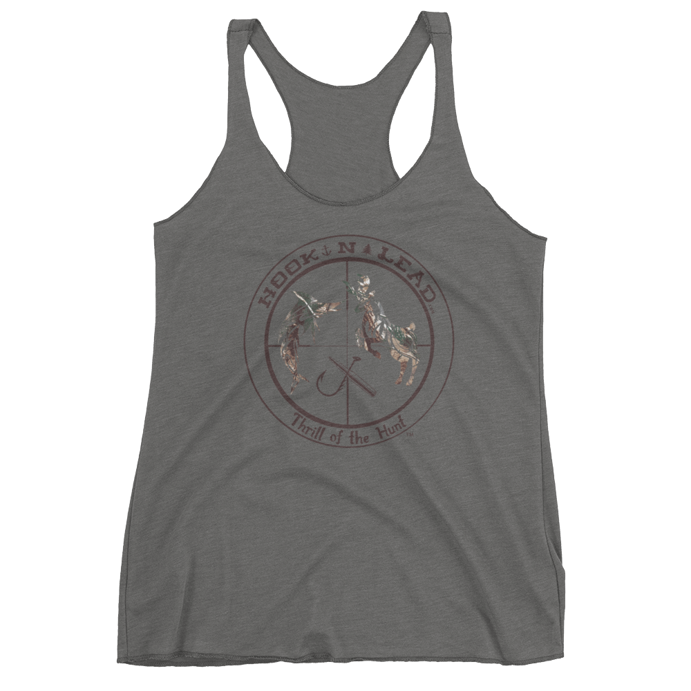 HOOKNLEAD.com offers woman a tank top for outdoors man that hunt fish in realtree print