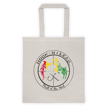 Canvas Tote bag with Black Rasta Print