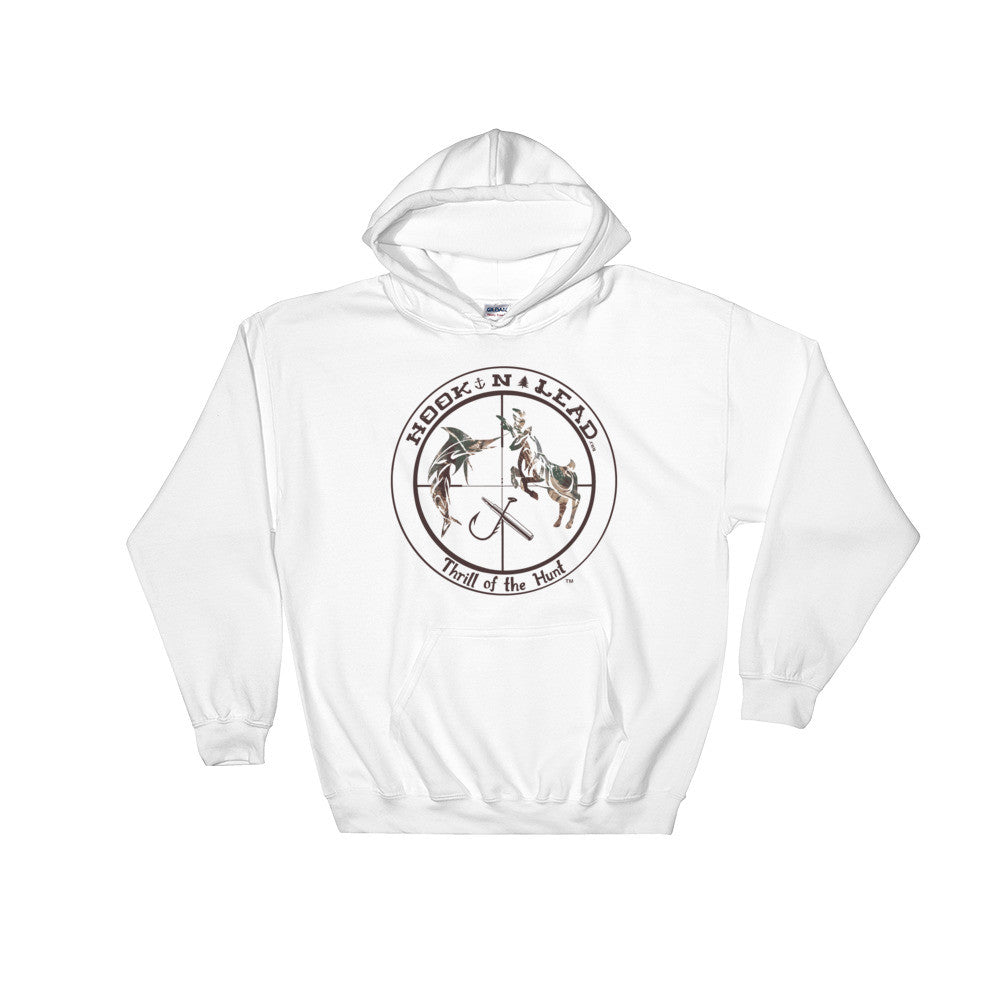 Cotton blend hooded sweatshirt with double-lined hood (4 colors)
