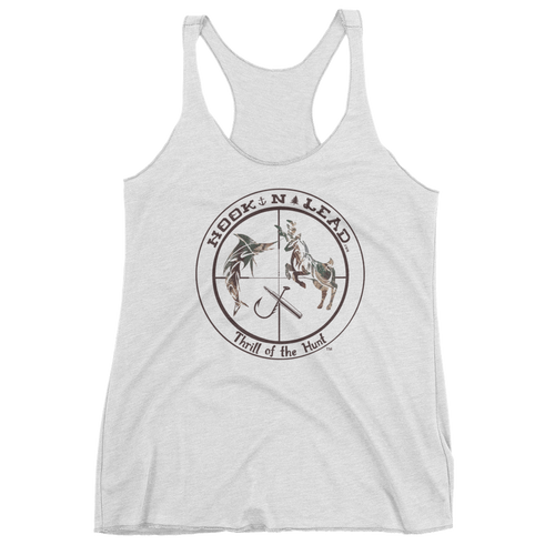 Women's triblend racer back tank top (6 colors)