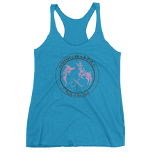 Women's triblend racer back tank top (5 colors)