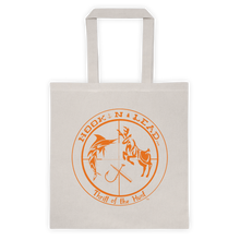 Canvas Tote bag with Blazing Orange print