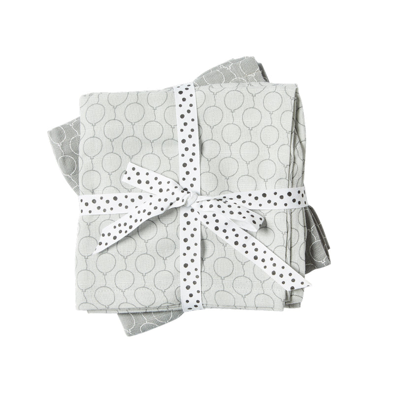 Muslin 2 Pack Grey Balloon