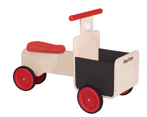plantoys delivery bike wooden toy