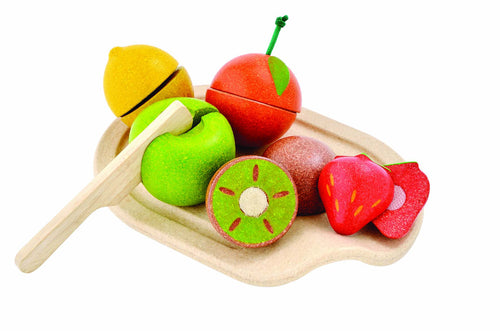 plantoys wooden fruit cutting knife
