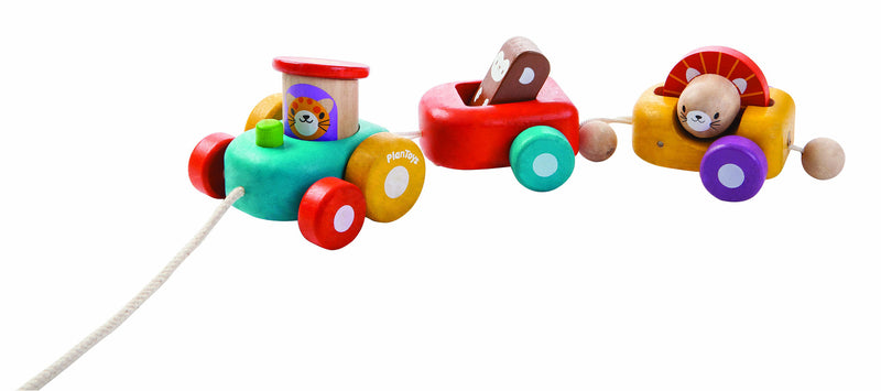 plan toys wooden happy engine