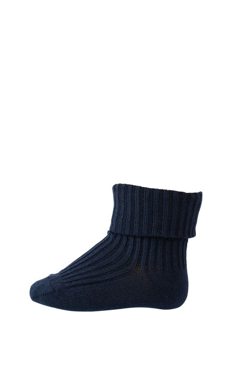 mp denmark baby socks cotton rib indigo blue