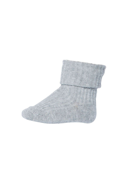 MP Denmark Baby Cotton rib socks grey marled