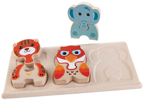 plan toys wooden animal puzzle