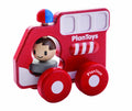 plan toys wooden fire truck engine toy