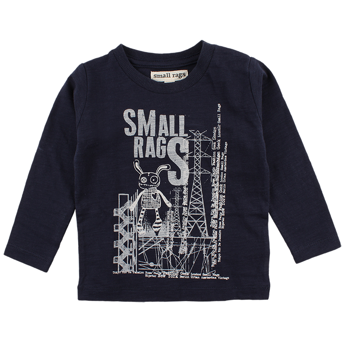 small rags uk blue t shirt baby toddler boy