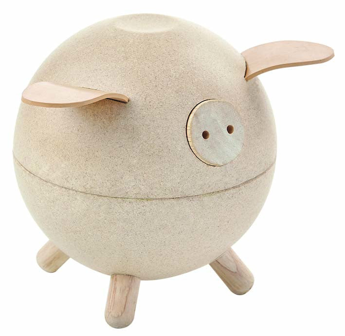 plan toys wooden piggy bank