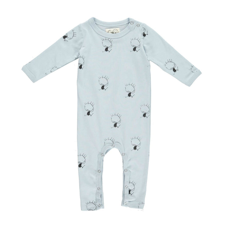 gro company playsuit dusty blue nice print