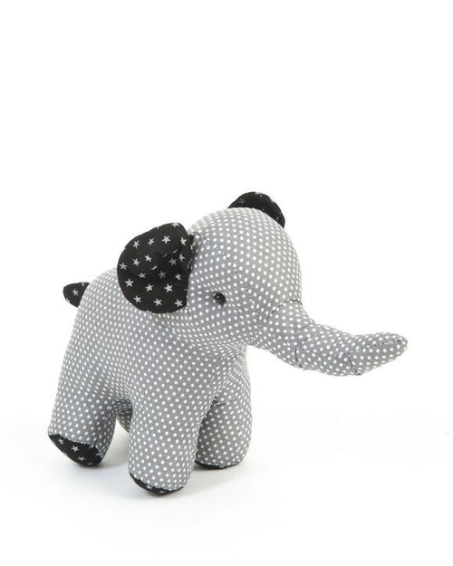 Fabric Elephant Toy - Grey Colour