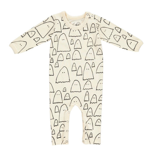 gro company baby playsuit sleepsuit ghost print
