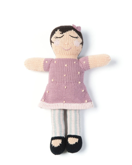 smallstuff knitted soft toy doll matti