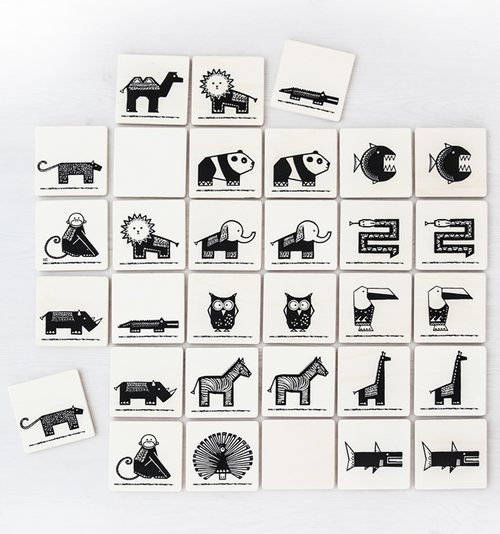 Ooh noo wooden animal memory game