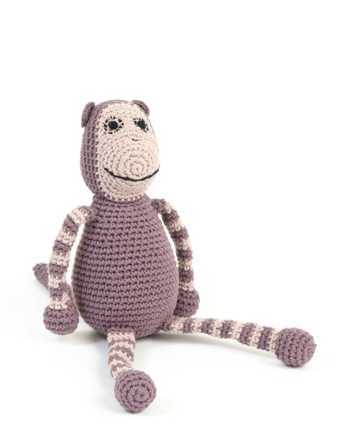 smallstuff crochet soft toy monkey rose pink
