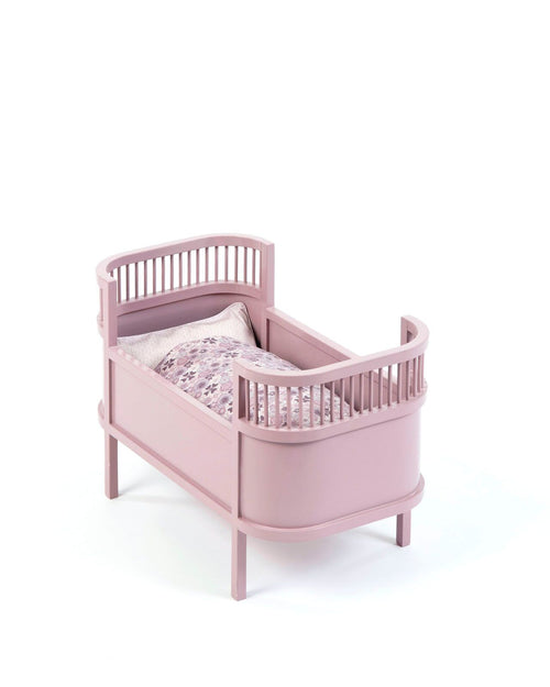 smallstuff rosalina doll cot bed powder pink wooden