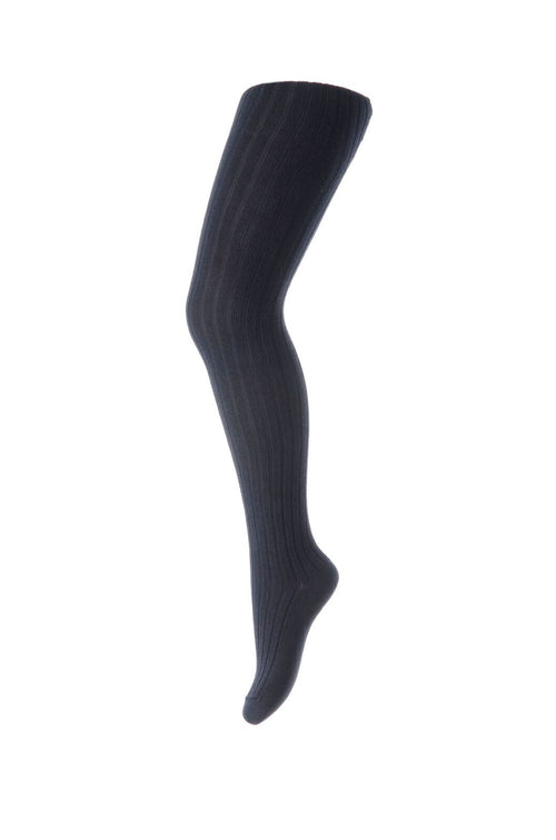 mp denmark cotton rib baby tights dark navy