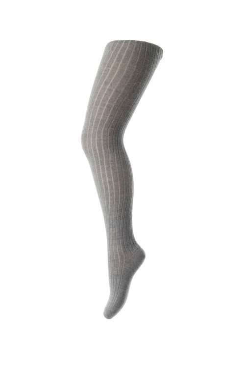 mp denmark cotton rib baby tights grey
