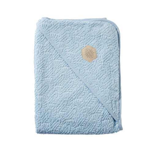 filibabba hooded baby towel blue
