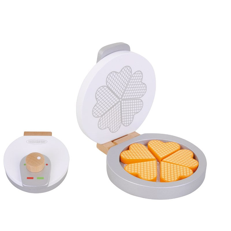 wooden waffle iron pretend play kitchen toy